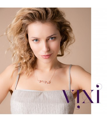 Vixi Nova Star Bar Necklace Rose Gold