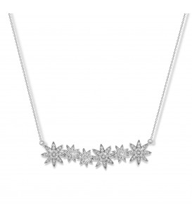 Vixi Nova Star Bar Necklace Silver