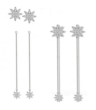 Nova Detachable Chain Earrings