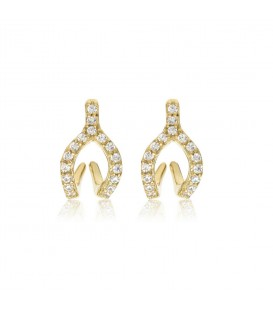 Penny Levi CZ Wishbone Jacket Earrings