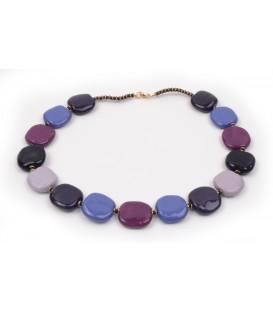 Kazuri Pita Pat Lavender Necklace