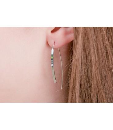 Boho Betty Penelope Silver Bar Earrings
