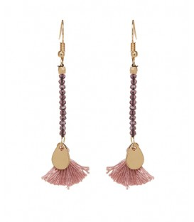 Mark Watson Sandra Tassel Earrings Amethyst