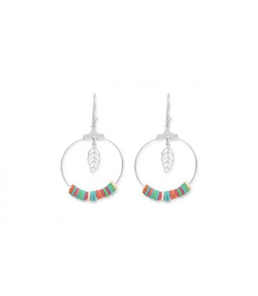 Boho Betty Moana Aqua/Silver Hoop