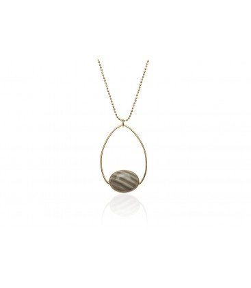 Boho Betty Mendes Striped Flint Necklace