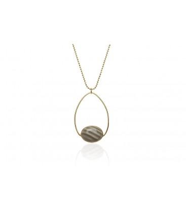 Boho Betty Mendes Striped Flint Necklace