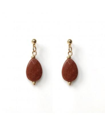 Bcharmd Powers semi precious caramel sandstone earrings