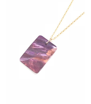 Jojo Blue Rectangle Autumn blaze Pendant