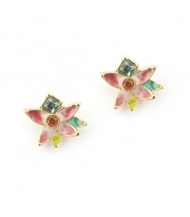 Flower Stud -Red