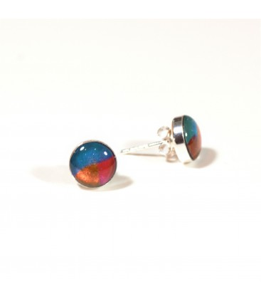 JoJo Blue Turq/Bronze Stud Earrings