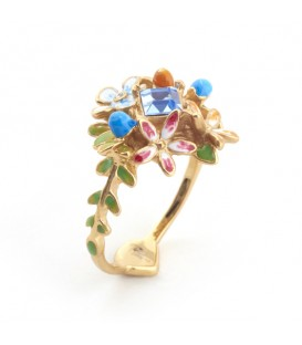 Bill Skinner Floral Crystal Ring
