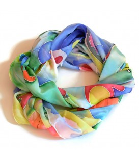 JoJo Blue Butterfly Scarf Multi