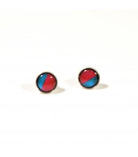 JoJo Blue Small Pink/Turq Stud Earrings