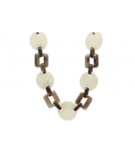 Boho Betty Themis Ivory Linked Chain Necklace