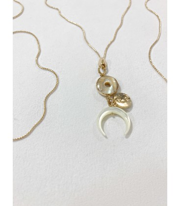 Bcharmd Caral Seashell Necklace Gold