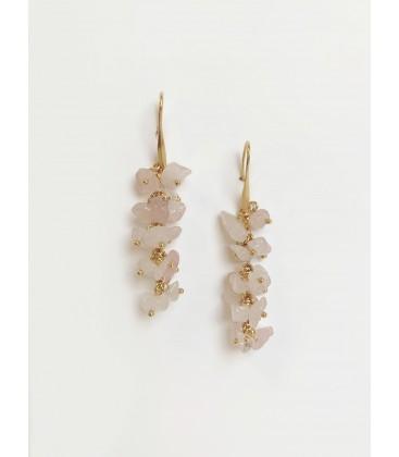 Bcharmd Emily Rose Quartz Earrings Gold