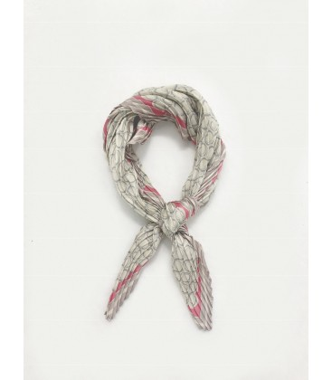 Bcharmd Linear Pleated Square Scarf