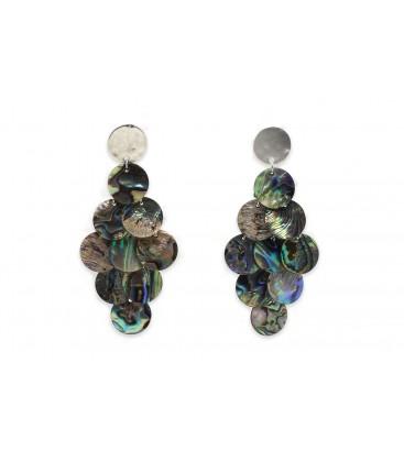 Boho Betty Yowla Blue Mother of Pearl Statement Earrings