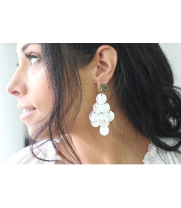 Boho Betty Yowla Mother of Pearl Statement Earrings