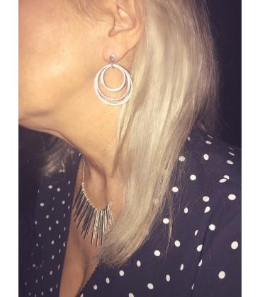 Chris Lewis Circle Statement Earrings