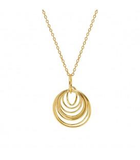 Mirabelle Gold Multi Hoop Pendant