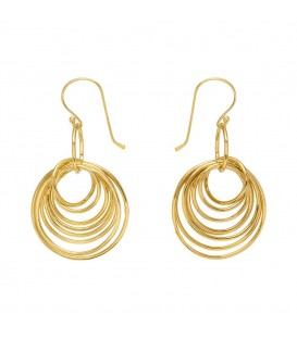 Mirabelle Gold Multi Hoop Earrings