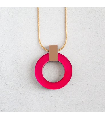 Alex Necklace - Fluo Pink