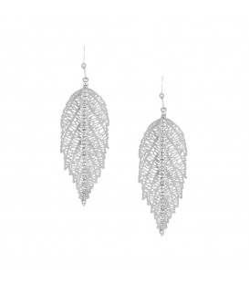 Leaf with Crystals Silver