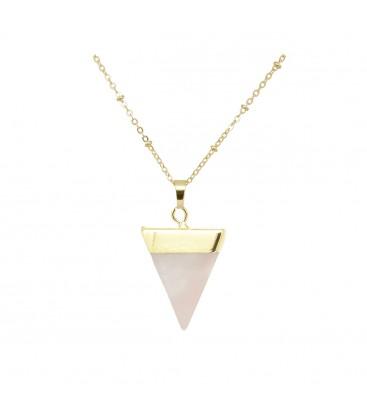 Natural Rosequartz Pyramid Pendant