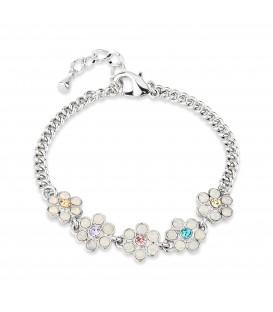 Opal Silver Plated Floral Bracelet