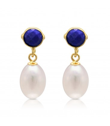 stud in lyst jewelry gurhan button blue product gallery earrings lapis