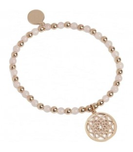 Prosperity Stretch Bracelet Rose Gold & Rose Quartz