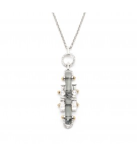 Manhattan Crystal Short Pendant