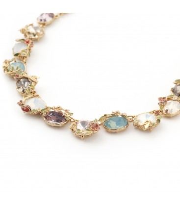 Scenes of Nature Crystal Statement Necklace