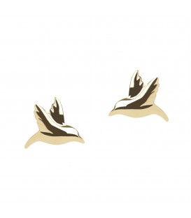 Hummingbird Studs Gold