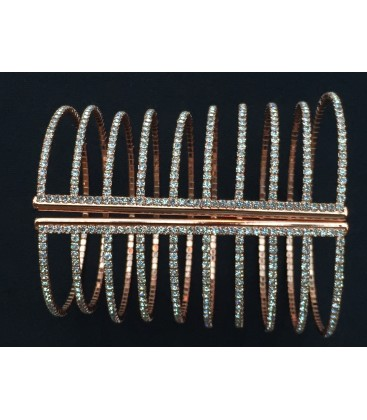 Long Crystal Embellished Cuff