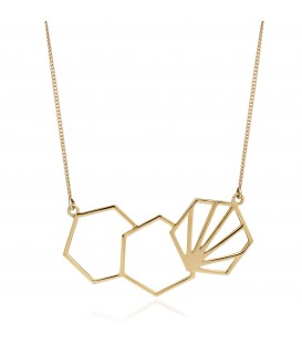 Rachel Jackson 3 Hexagonal Necklace