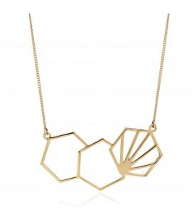 Rachel Jackson 3 Hexagonal Necklace