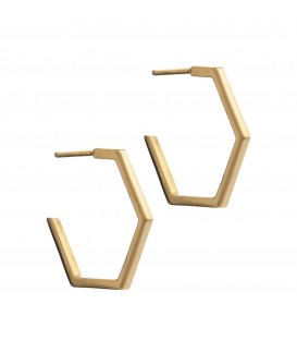 Rachel Jackson Large Hexagonal Earrings