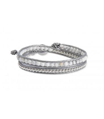 Boho Betty Orion Silver Leather 2 Wrap Bracelet