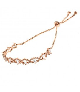 Rose Gold CZ Friendship Bracelet