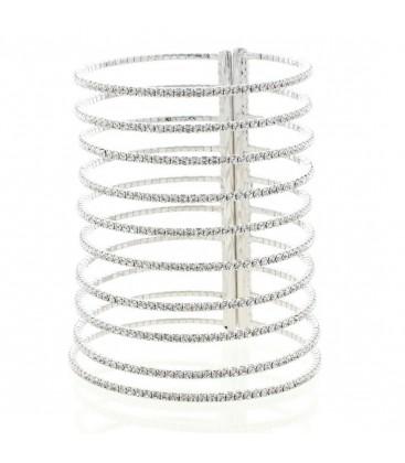 Long Crystal Embellished Cuff