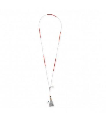 Boho Betty Ata Red & Silver Beads