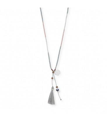 Boho Betty Vest Rose Gold & Silver Tassel Necklace